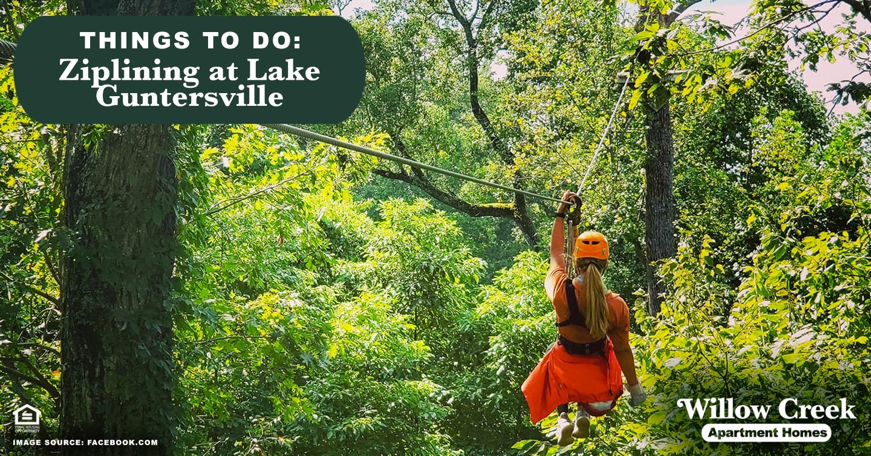 Things to Do: Ziplining at Lake Guntersville